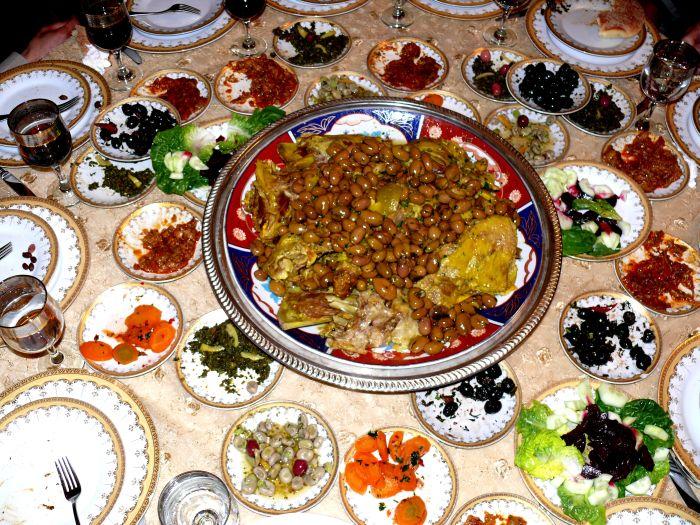 Marokkanische Mahlzeit